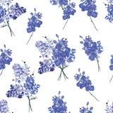 紫罗兰色法国花束无缝的样式 免版税库存图片