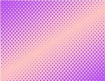 紫罗兰色流行艺术可笑的半音背景传染媒介 免版税库存照片