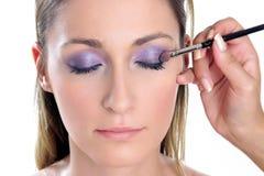 紫罗兰色神色第2步 免版税库存图片