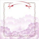 紫罗兰色花模板 免版税库存照片