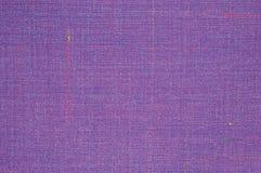 紫罗兰色葡萄酒花呢羊毛织品背景纹理样式,大详细的水平的织地不很细宏观特写镜头,紫色,黄色 库存照片