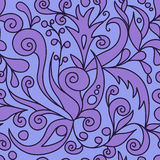 紫罗兰色装饰样式 免版税库存照片