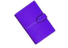 紫罗兰色钱包 免版税库存照片