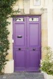 紫罗兰色门在Camargue地区 免版税库存照片