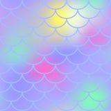 紫罗兰色鱼鳞无缝的样式 不可思议的美人鱼纹理或背景方形的样片 向量例证