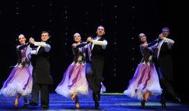 紫罗兰色以色列民间舞蹈这奥地利的世界舞蹈 库存图片