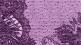 紫罗兰色etno织品 库存照片
