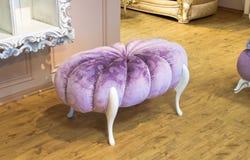 紫罗兰被填塞的凳子 免版税库存图片