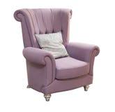 紫罗兰被隔绝的扶手椅子 库存图片