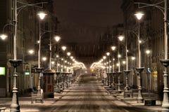 罗兹,波兰,冬天2014年 免版税库存图片