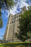 罗切斯特城堡在肯特,英国 免版税库存照片