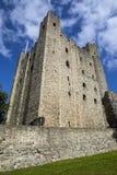 罗切斯特城堡在肯特,英国 免版税库存图片