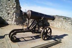 罗切斯特城堡火炮在英国 免版税库存图片