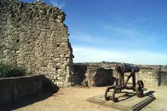 罗切斯特城堡火炮在英国 免版税图库摄影