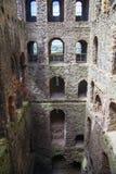 罗切斯特城堡12世纪废墟  设防城堡和废墟  肯特,东南英格兰 库存图片