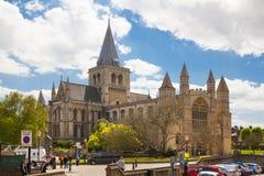 罗切斯特大教堂内部是其次最旧英国的,建立在604AD 库存照片
