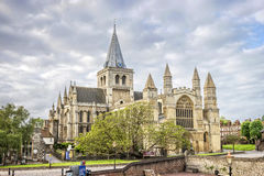 罗切斯特大教堂在肯特,英国 库存图片