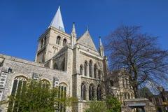 罗切斯特大教堂在肯特 免版税库存照片