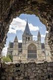 罗切斯特大教堂在英国 库存照片