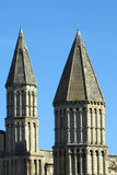 罗切斯特大教堂的螺旋,英国 库存图片