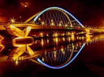 罗利大道桥梁在米尼亚波尼斯 库存图片