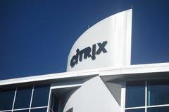 罗利, NC/USA - 9-01-2015 :在街市罗利的Citrix大厦, 免版税库存照片