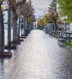 罗卡拉索,阿布鲁佐,意大利中央路  2017年10月13日 免版税库存照片