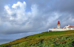 罗卡角灯塔,欧洲的末端 免版税库存照片