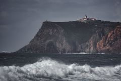 罗卡角灯塔,欧洲的末端 库存图片