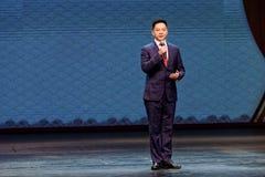 罗城称门开放中国李子开花得奖的艺术马戏团 免版税库存照片