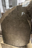 罗塞塔石头在大英博物馆中 图库摄影