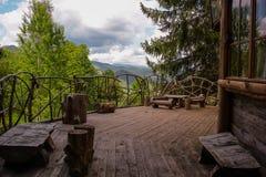 罗多彼州山,一个童话 库存照片