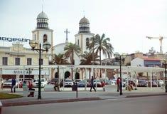 罗安达大教堂广场,安哥拉-非洲都市风景 免版税图库摄影