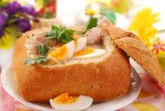 罗宋汤复活节白色 免版税库存照片