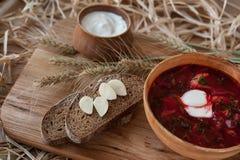 罗宋汤-一个传统乌克兰盘 免版税图库摄影