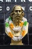 罗宾德拉纳特・泰戈尔的纪念碑在加尔各答 免版税库存照片