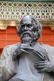 罗宾德拉纳特・泰戈尔的纪念碑在加尔各答 免版税库存图片