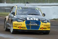 罗宾拉尔森 巴塞罗那FIA世界Rallycross 库存照片