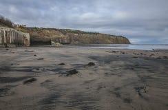 罗宾汉` s海湾,在海滩的五颜六色的沙子 图库摄影