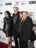 罗宾Zweibel,阿伦Zweibel,第17次Tribeca电影节的Laraine纽曼和吉尔伯特戈特弗里德 免版税库存照片