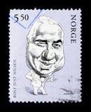 罗尔夫Nilsen (1931-1981),演员serie,大约2002年 图库摄影