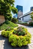 罗布森广场在街市温哥华 免版税库存照片