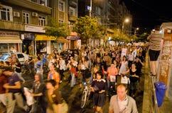 罗希亚蒙塔讷抗议在布加勒斯特,罗马尼亚- 9月08日(4) 库存照片