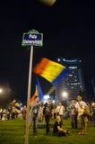 罗希亚蒙塔讷抗议在布加勒斯特,罗马尼亚- 9月08日(7) 库存照片