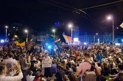 罗希亚蒙塔讷抗议在布加勒斯特,罗马尼亚- 9月08日(8) 库存图片