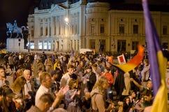 罗希亚蒙塔讷抗议在布加勒斯特,罗马尼亚(3) 免版税库存图片