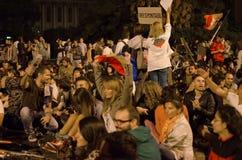 罗希亚蒙塔讷抗议在布加勒斯特,罗马尼亚(13) 免版税图库摄影