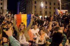罗希亚蒙塔讷抗议在布加勒斯特,罗马尼亚(15) 免版税图库摄影