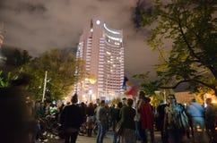 罗希亚蒙塔讷抗议在布加勒斯特,罗马尼亚(16) 免版税库存照片