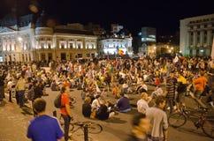 罗希亚蒙塔讷抗议在布加勒斯特,罗马尼亚(18) 免版税库存照片